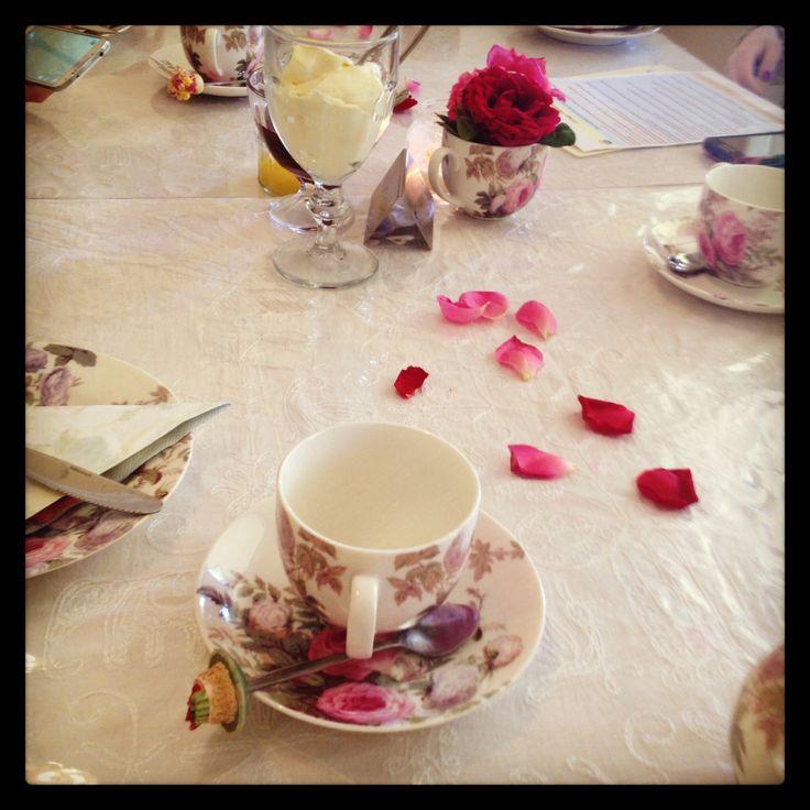 The perfect high tea setup :)
