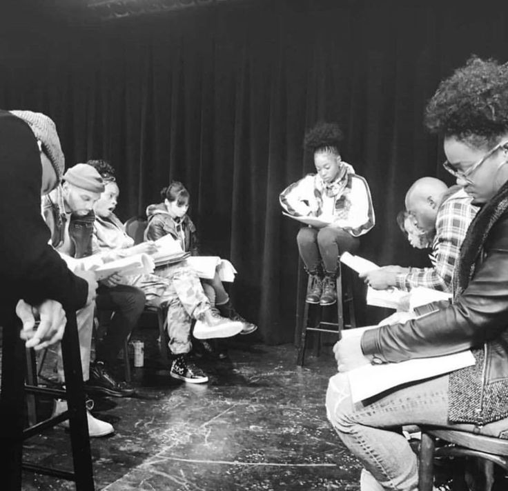 """Great start of the new year.  Great cast great reading with the cast of upcoming crime thriller thriller 'Tales Of A Shadowboxer"""" (@shadowboxerphilly) Maleek Jackson (@maleek_jackson) Luis Mejia (@itsluismejia) Mae Claire (@mae.claire) Kyra Knox (@kyraknox_) Nichole Chimere (@nicholechimere)  Antwione Saunders (@twonliveloud) and Marquis Val'Dez (@marquisvaldez)  script supervisor @_janaeshavers AD whenarichnighawantyu written/produced by Sharif McFadden (@bodycount1) directed by James M…"""