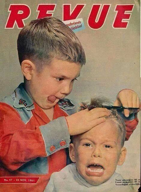 Ha ha ha. Retro 1961 magazine cover.