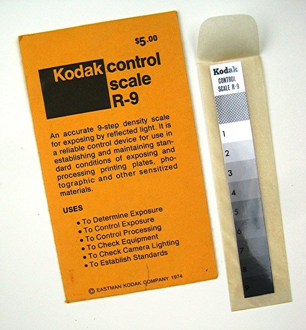 Museum of Forgotten Art Supplies - Kodak Density Control Gray Scale - Stat Cameras