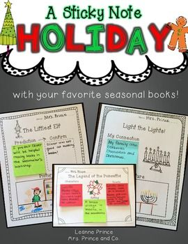 A Sticky Note Holiday! {featuring your favorite holiday books!} Olive, the Other Reindeer, The Wild Christmas Reindeer, Light the Lights!, The Gingerbread Pirates, The Legend of the Poinsettia, Together for Kwanzaa, Snowmen at Christmas, The Littlest Elf