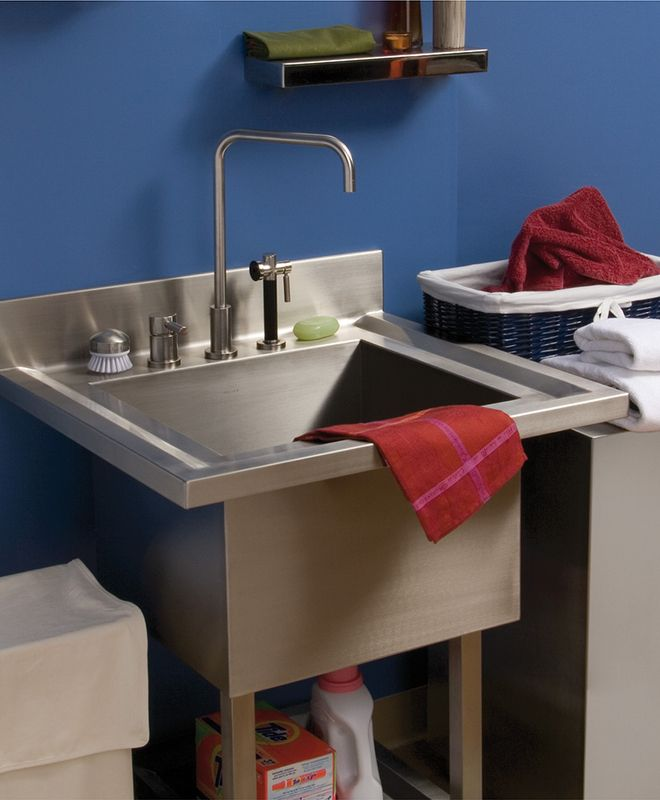 design inspirations co utility stainless photo steel lovely of legalbuddy sink garage marvelous cabinets and sinks
