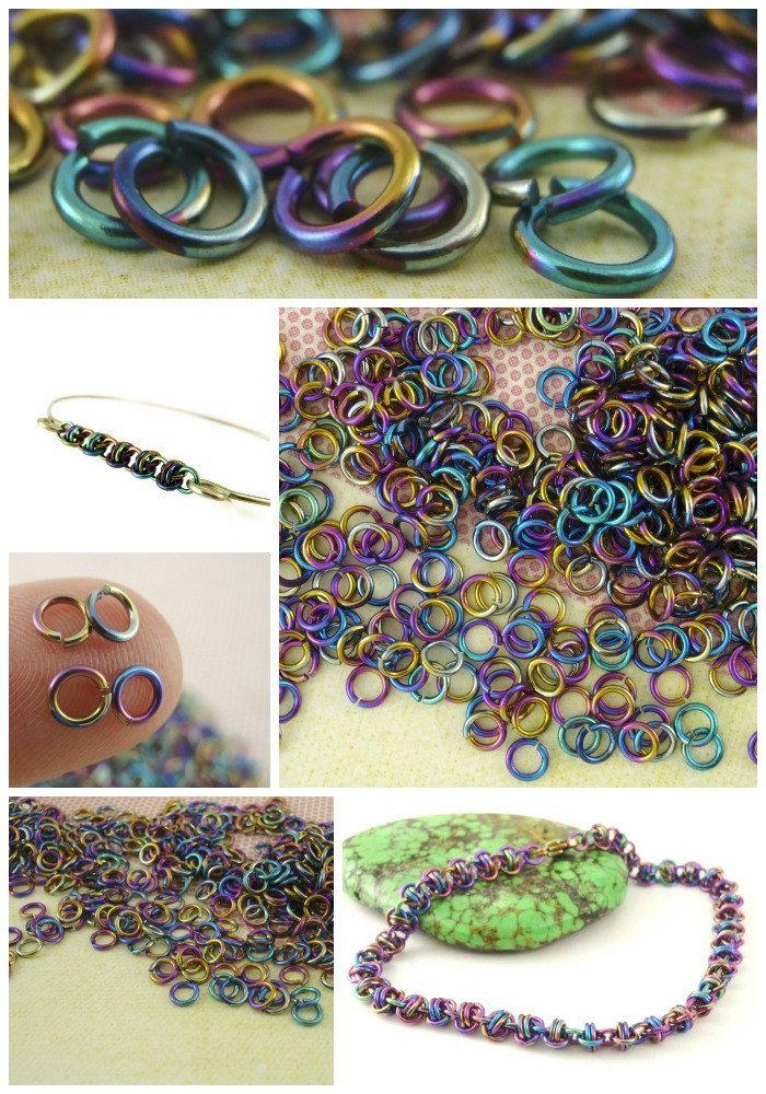 Rainbow Niobium Hypoallergenic - Chainmaille Kit with a BONUS Gift, cool!