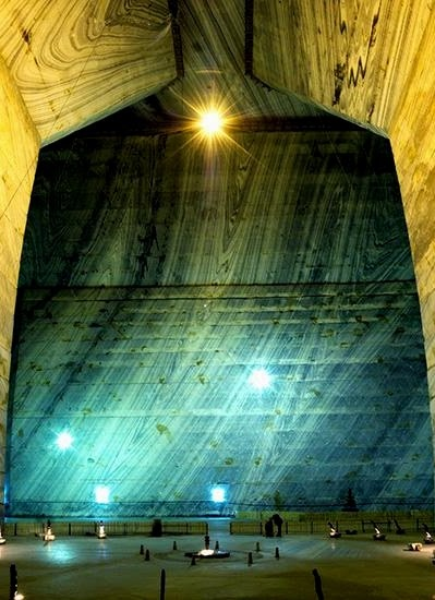 Salt Mine, Romania, deep underground, One of the coolest places I've ever been, www.romaniasfriends.com