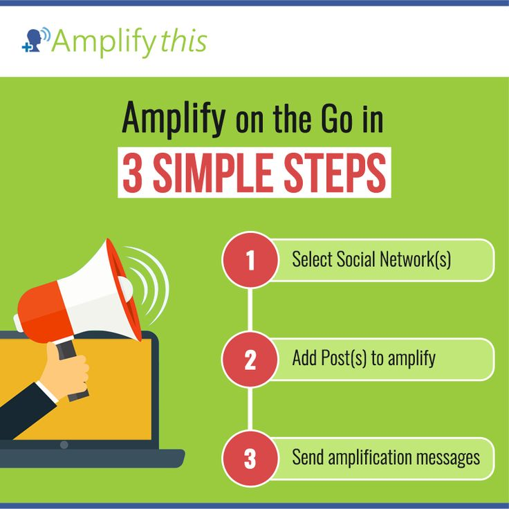 Use Amplify-this and easily enhance reach of your social content in 3 simple steps. Visit our website for details: http://bit.ly/2kZqgdl #SocialMediaMarketing