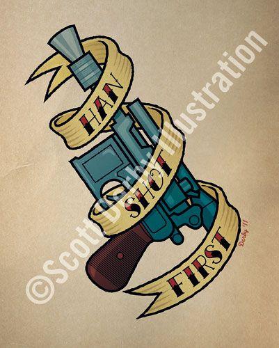 Star Wars Tattoo Designs | ... Derby Illustration, Shaun of the Dead and Star Wars tattoo designs