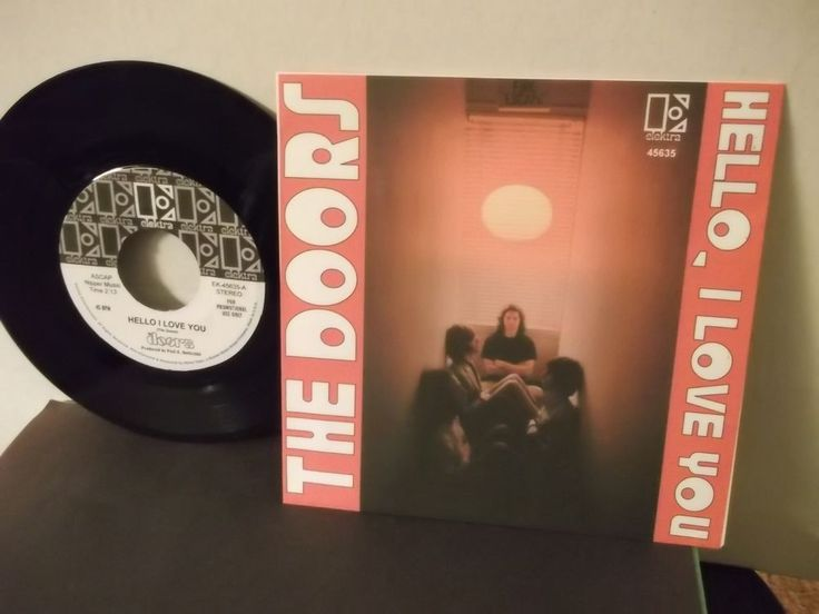 "The Doors US 7"" single - Hello I Love You #thedoors #single #picturesleeve"