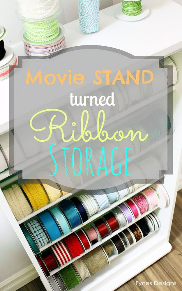 50 Clever Craft Room Organization Ideas Ribbon
