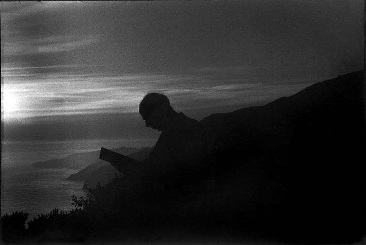 Henry Miller, Big Sur, 1947 -by Henri Cartier-Bresson: Honeymoon Happy Memories, White Photography, Big Sur, Henri Cartier Bresson, Henry Miller, Cartier Bresson Travelled