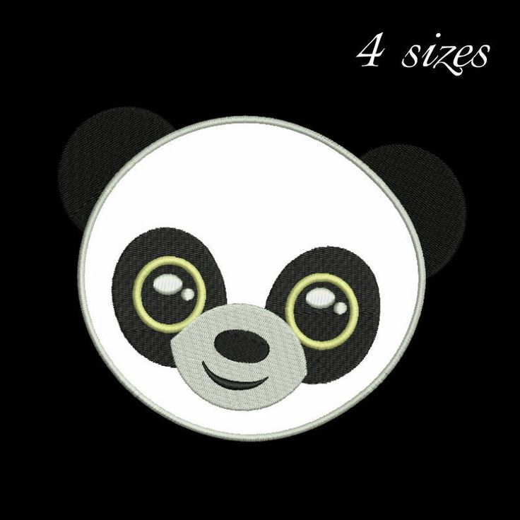 Panda bear embroidery designs animals applique design machine pattern in the hoop pes files instant digital download by SvgEmbroideryDesign on Etsy