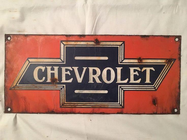 1940's Vintage Porcelain Chevrolet  Enamel Sign #Chevrolet