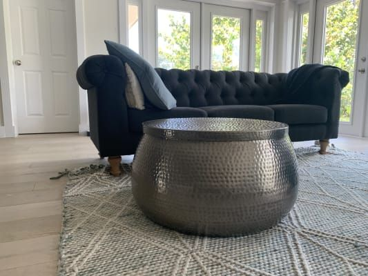Silver Hammered Metal Cala Coffee Table By World Market 500