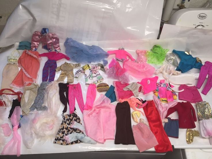 Vintage Barbie Doll Clothes - Mixed Lot - Rocker Clothes - stars -80's styles #Unbranded