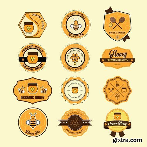 Different emblems and labels design - 25 Eps
