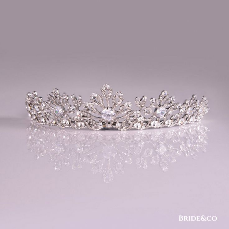 A dream #wedding deserves this #silver, #diamante #encrusted leaf-style #tiara - only available at Bride&co for R570 (style A201207292582R). Click to view more on our website or book a free fitting.   #bridaljewellery #weddingjewellery #headpiece #sparkling #instawed #glam #sparklingwedding #brideandco #southafrica #diamondtiara