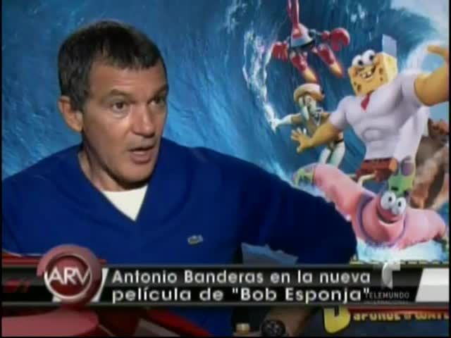 Antonio Banderas Participa En La Nueva Película De Bob Esponja #Video
