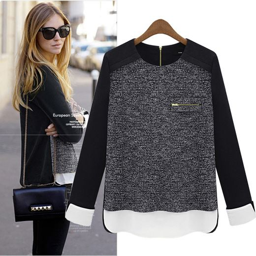 Spring Autumn&Winter excellent quality, European style elegant fashion ladies knitwear, womens long sleeve t shirt tops US $22.89