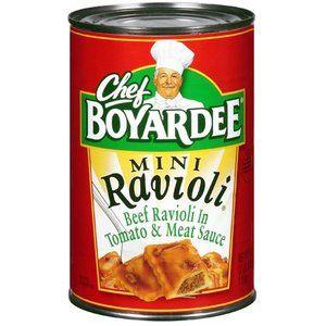 Chef Boyardee: Beef Ravioli In Tomato & Meat Sauce Mini Ravioli, 40 Oz