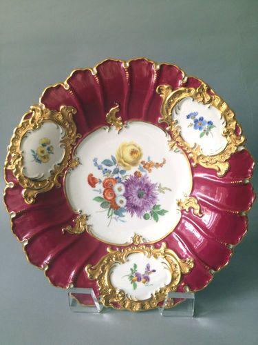 Beautiful 19th Century Meissen Porcelain Plate   eBay
