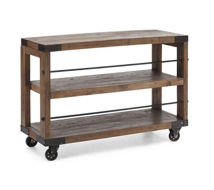 Wood And Metal Jackson Kitchen Cart: Mobilier De Salon, Meuble