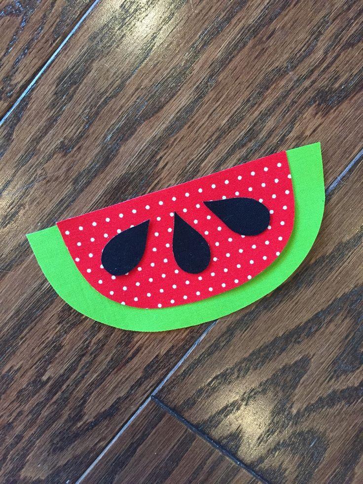 Watermelon Iron On Applique, You Choose Fabric by EllaBaDellas on Etsy https://www.etsy.com/listing/236645119/watermelon-iron-on-applique-you-choose
