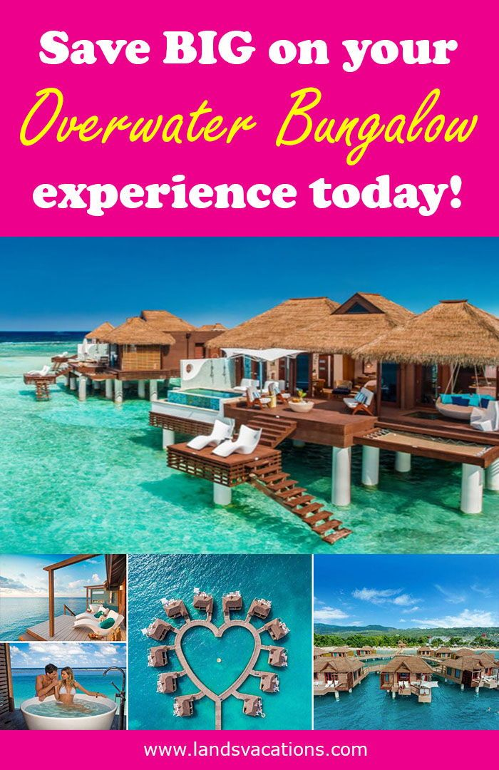 Sandals Resort Overwater Bungalow Caribbean Vacations All Inclusive Resort Roma All Inclusive Vacation Deals Romance Travel All Inclusive Vacations