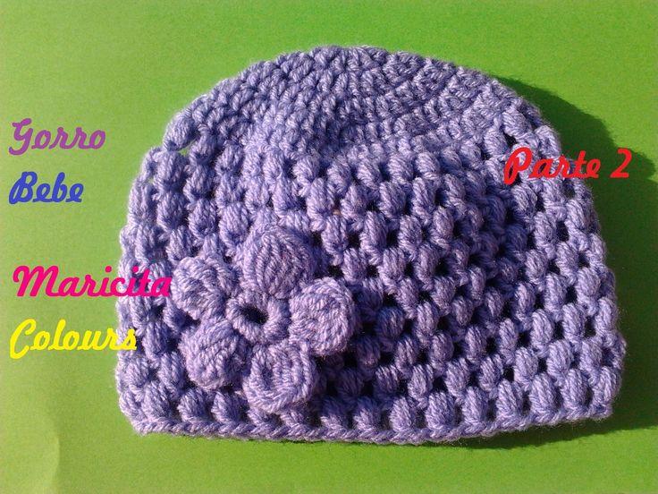 Crochet Tutorial fácil Gorro Bebe Lila (Parte 2) Subtitles English & Deu...