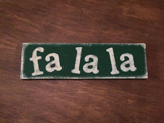 Fa la la...  Reclaimed Pallet Wood Sign  Wall by RusticByDesignAZ