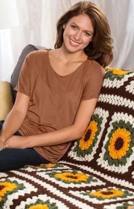 Crochet Sunflower Afghan ~ free