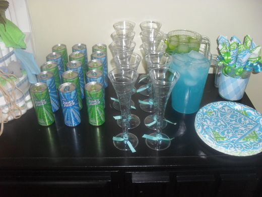 Charming Turquoise U0026 Lime Green Baby Shower Party Ideas