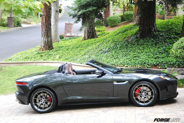 Jim Simpson's Jaguar F-TYPE convertible looks absolutely stunning on his new 20-inch Forgeline one piece forged monoblock GA1R wheels finished in Transparent Smoke! See more at: http://www.forgeline.com/customer_gallery_view.php?cvk=1107  #Forgeline #forged #monoblock #GA1R #notjustanotherprettywheel #madeinUSA #Jaguar #FType #convertible