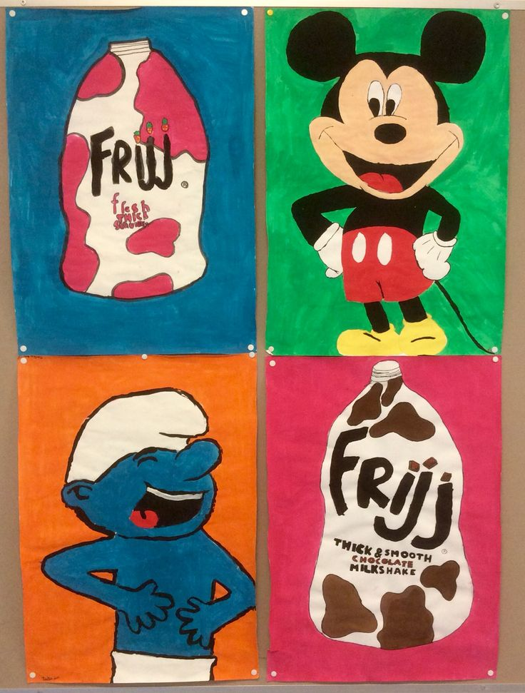Popart acrylic paintings