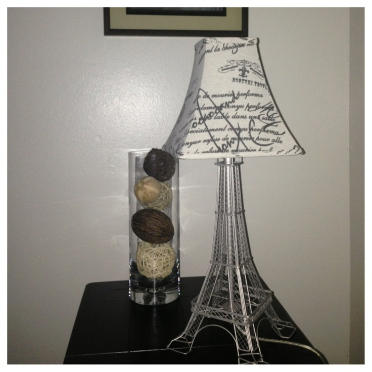 Diy Lamp Eiffel Tower With Lampshade Home Projects