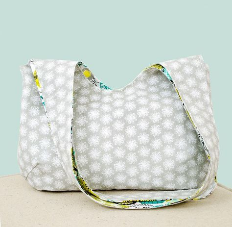 Simple Reversible Slouch Bag PDF Sewing Pattern