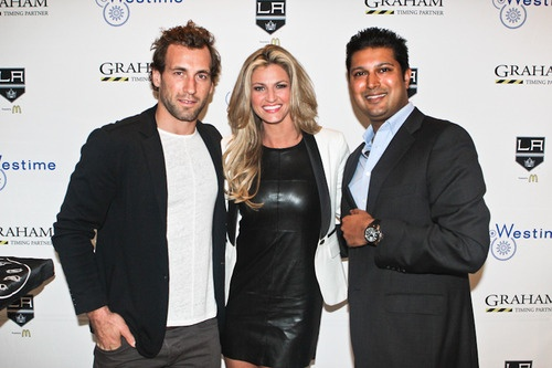 Jarret Stoll, Erin Andrews and Samir Shah
