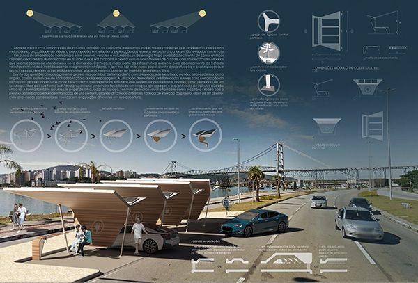 Projeto de eletroposto para concurso do site projetar.com por Matheus dos Reis (eu) e Gabriel Gonçalves #arquitetura #architecture #design #industrialdesign #urban #arquitectura #board #prancha #grafico