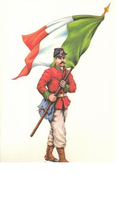 Volontario ex-militare piemontese  Impresa dei 'Mille', 1860