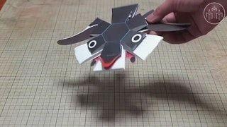 Japanese designer Haruki Nakamura's kinetic paper toys : BeAmazed