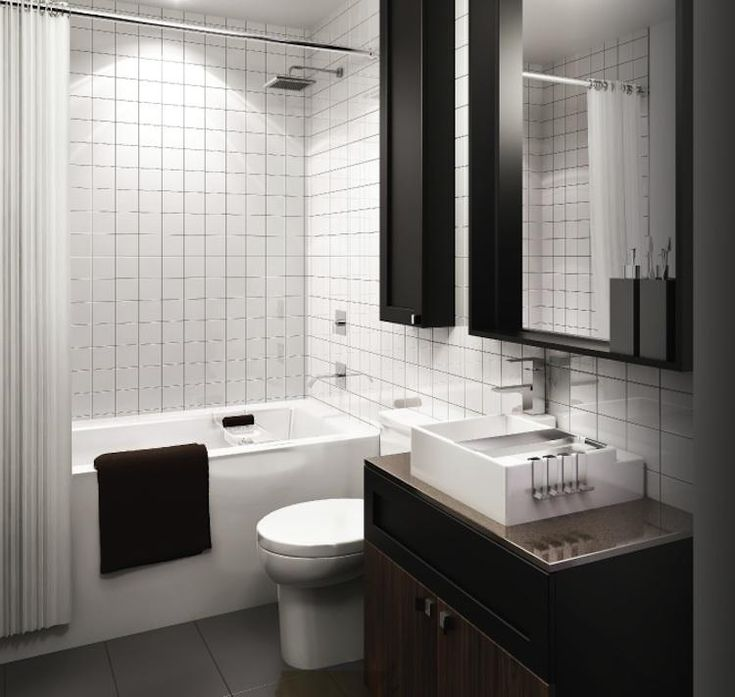 Nice Minimalist Design For A Small Condo Bathroom