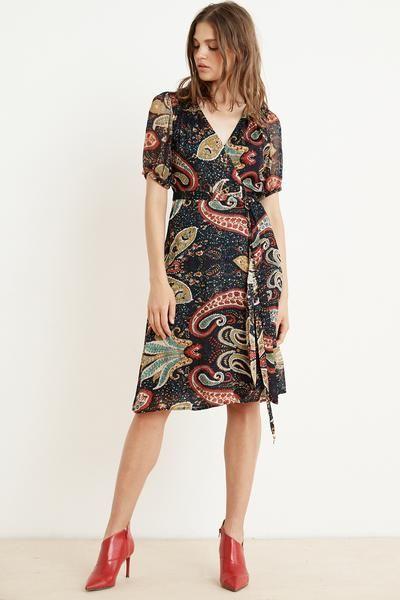 f7e58239 Taylor paisley short sleeve wrap dress in 2019 | Apparel | Wrap ...