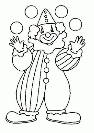 """Раскраски """"рисунок - картинка клоуна для детей"""" скачать и ..."""