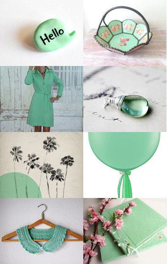 Minty spring by Francesca Vicario on Etsy--Pinned with TreasuryPin.com