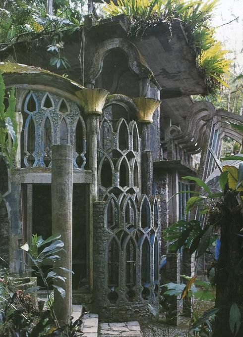 Amazingly surreal Las Pozas in the rainforest by Xilitla in the Mexico mountains. Created by Edward James in the 40′s, it includes more than 80 acres of natural waterfalls and pools interlaced with towering surrealist sculptures and buildings.