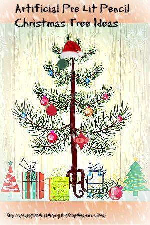 Artificial Pre Lit Pencil Christmas Tree Ideas