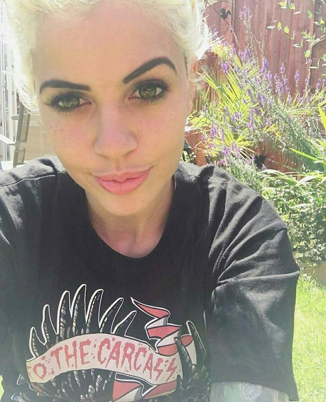 "@officialjessicawolf in our ""To The Carcass"" Tee  available at www.crmc-clothing.co.uk 