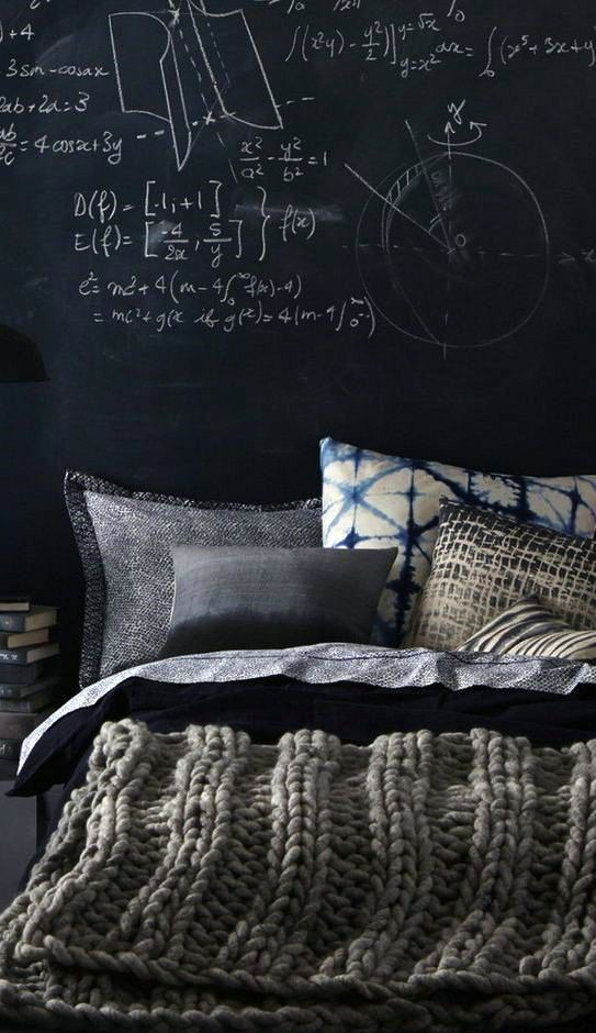 Love the industrial #interior #design look? You can still incorporate knitting, just add a chunky knit blanket!