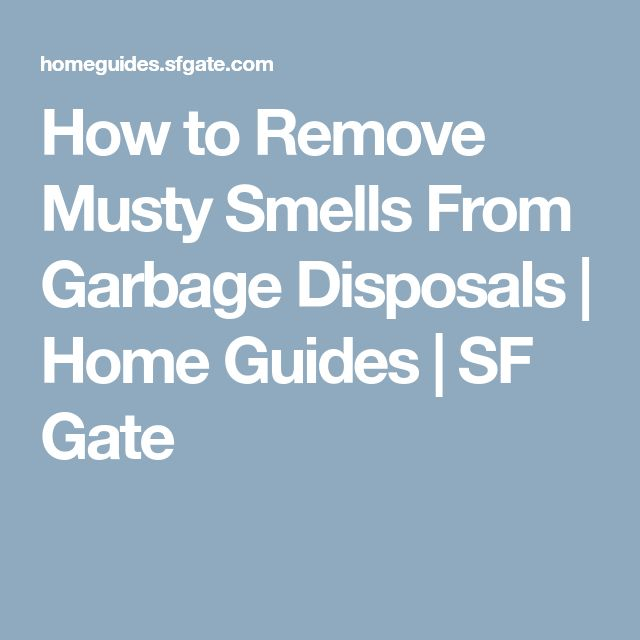 How to Remove Musty Smells From Garbage Disposals (With ...