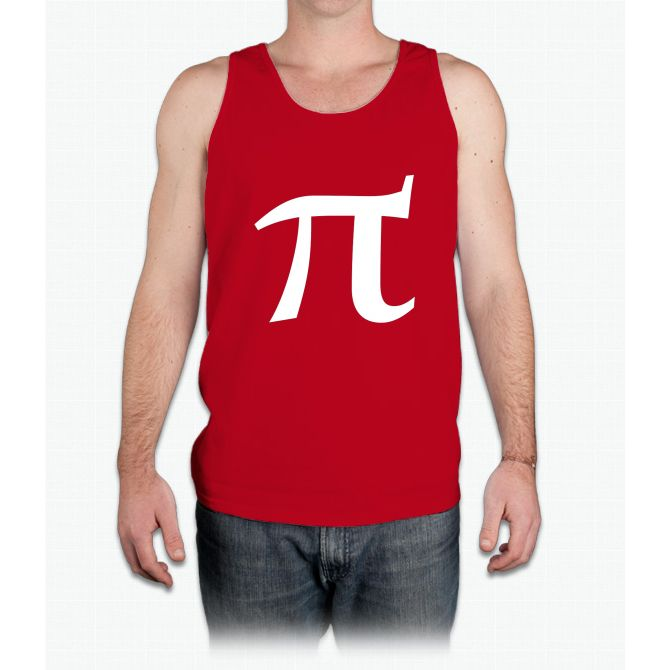 Pi symbol for pi day - Mens Tank Top