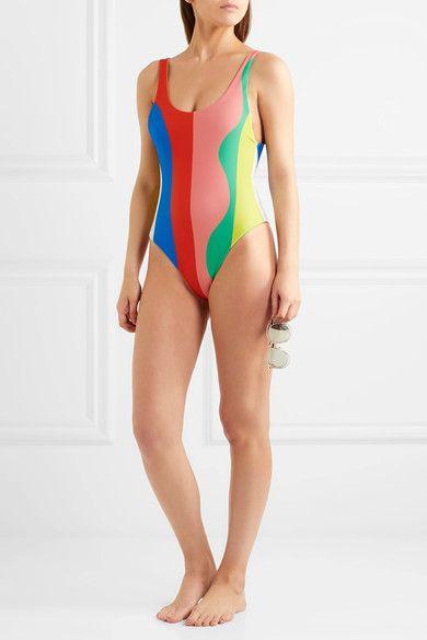Mara Hoffman - Striped Swimsuit - Pink -
