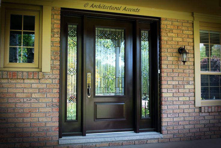 Steel Entrance System Single Door With 3 4 Rosedale Glass